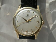 OMEGA GOLD VINTAGE MANUAL MENS WRISTWATCH 1956 OMEGA CROWN 14KT GF HIGH QUALITY!