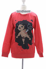 TY-Y087 Voodoo Magie Puppe rot red Punk Gothic Sweatshirt Pullover Harajuku