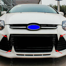 Front Grille Vent Hole Wolf Fang Decoration Sticker Mark For Ford Focus 2011-12