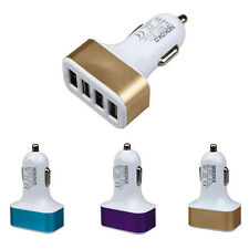Smartphone GPS Car Charger Universal 12V 4 Port USB DC Charger Adapter For HTC