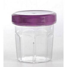 10 mini pots à confiture, couvercle violet / prune