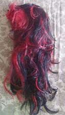 womens RED BLACK HALLOWEEN WIG costume  BLENDED COLORS NICE MANY IDEAS NEW NWOT