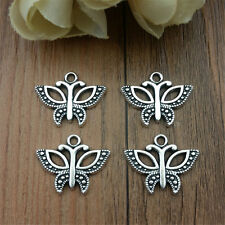 Wholesale 10pcs Tibet Silver Butterfly Crafts Charms Pendants Making Jewelry