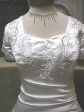 NWOT Maggie Sottero Modest short sleeve lace up wedding dress bridal gown WH 16