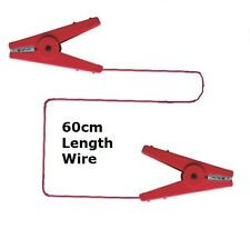 CROCODILE CLIP CONNECTORS Red Fence to Fence Rope  Electric Fencing Connection