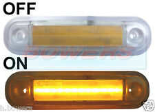 12V/24V ORANGE LED SIDE MARKER/POSITION LAMP/LIGHT VAN CAR TRUCK GRILLE BAR