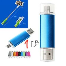Original USB3.0 Smart OTG Flash Disk 1TB U disk + Selfie Stick Gift!