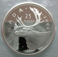 2006 CANADA 25 CENTS PROOF SILVER QUARTER COIN - A
