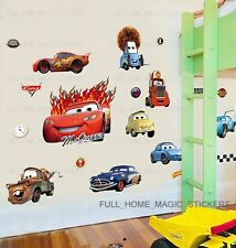 Large Disney Cars Lightning McQueen REMOVABLE Wall Stickers Boys Room Kids Decal