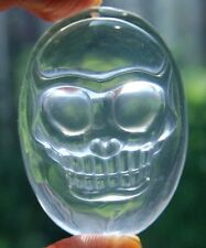 "A++ 1.8"" Natural Clear Quartz Rock Chatoyant Crystal Skull Pendant"