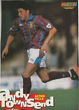 ANDY TOWNSEND ASTON VILLA 1993-1998 ORIGINAL HAND SIGNED MAGAZINE PICTURE