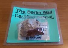 ORIGINAL GENUINE  PIECE OF THE BERLIN WALL - CERTIFIED BY THE WEST - MEMORABILIA