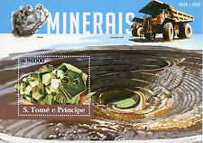 Sao Tome & Principe 2015 MNH Minerals 1v S/S Caterpillar 793 Mining Truck Stamps