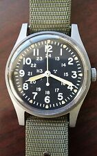 Hamilton Military Watch H3 MIL-W-46374B Ca.1983 excellent condition