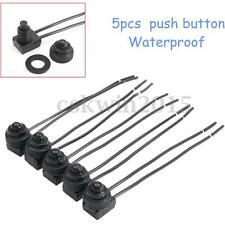 """5Pcs 12V Waterproof On-Off Push-Button Switch with 4"""" Leads for MOTORCYCLE/CAR"""