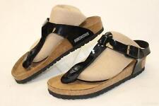 MISMATCH MODELS Birkenstock NEW Womens 37 6 Black T-Strap Sandals Shoes kg