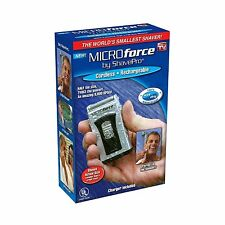 Wet/Dry Shaver Men Microforce By Shavepro Cordless Rechargeable Razor Groomer