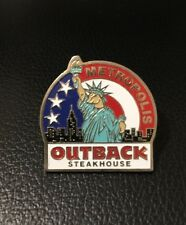 Outback Steakhouse hat lapel pin~ Metropolis Statue Liberty ~Vintage Collectible