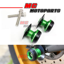 Twall Racing Green M8 Swingarm Spools Bobbins Fit Kawasaki Z800 year 2013