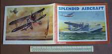 """1940s Home Front Aviation Book with Superb Colour Plates """"Splendid Aircraft"""""""
