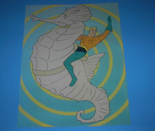 DC COMICS AQUAMAN CLASSIC SUPER-FRIENDS POSTER PIN UP