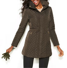 Jones New York NEW Hooded Quilted Jacket  Size S MSRP $180 #W 145