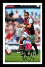 DIMITRI PAYET - WEST HAM AUTOGRAPHED SIGNED AND FRAMED  POSTER PHOTO