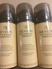 3 X Revlon PhotoReady Airbrush Mousse Makeup Foundation NATURAL OCHRE New Sealed