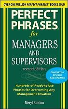 Perfect Phrases: Managers and Supervisors by Meryl Runion (2010, Paperback)