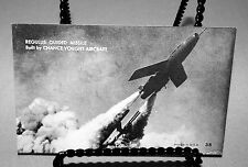 REGULUS GUIDED MISSILE PHOTO CARD CHANCE VOUGHT AIRCRAFT #38