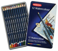 Derwent Watercolour Set Of 12 In Beautiful Keepsake Tin ~ NEW