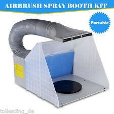 Portable Airbrushing Spray Booth Extractor Kit w/ Hose Filter Art Craft Paint UK