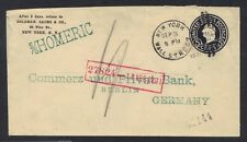 US 1931 GERMANY ScU443 BLUISH BLACK SHIP MAIL ON STEAMSHIP S/S HOMERIC TO BERLIN