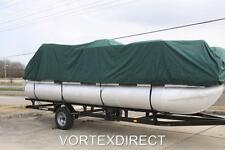 NEW VORTEX COMBO PACK GREEN 24 ULTRA PONTOON/DECK BOAT COVER+DUAL SUPPORT SYSTEM
