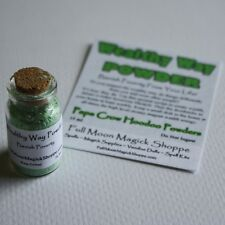 Wealthy Way Powder Banish Poverty Attract Riches Wealth Money Corked Bottle