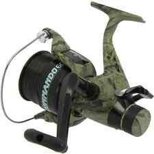 1 x LINEAEFFE COMMANDO 60 CAMO COLOUR CARP RUNNER FISHING REEL WITH 12LB LINE