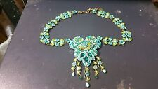 michal negrin genuine vintage necklace 2 small links are missing please look wow