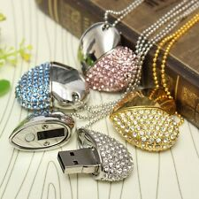 Novelty 8GB Crystal Heart USB 2.0 Flash Memory Thumb Stick Pendant Drive Gift AU