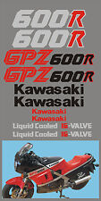 Kit comp. Kawasaki GPZ 600R 1986 nera rossa - adesivi/adhesives/stickers/decal