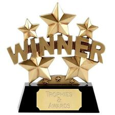 WINNER Star Trophy 16.5cm16.5cm FREE ENGRAVING 1st Place Personalised Award New