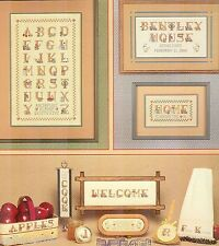 Country Alphabet Anne Young 1985 Cross Stitch Pattern Rooster Duck Cat Bird Quil