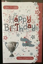 Just for You - Happy Birthday - Have A Great Day - Male Birthday Card - Sport