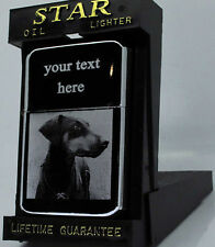 DOBERMAN DOG PHOTO / TEXT ENGRAVED LIGHTER GIFT UK