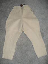 NEW EQUI STRETCH by EQUESTRIAN, SIZE S25 BEIGE BREECH, SELF KNEE PATCH