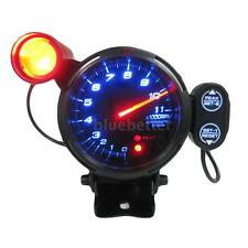 "3.5"" Tachometer Gauge Kit Blue LED Car Meter with Shift Light 11000 RPM 12V New"