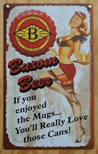 Buxom Beer Tin Sign Pin Up Girl Home Bar Signs Brewery Barmaid Alcohol Drink Z86