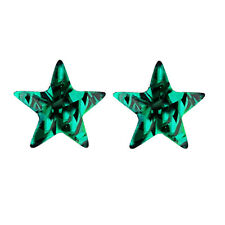 Dark Crystal Emerald Green Star Shape Small Stud Earrings E1106