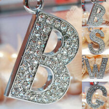 Bling Crystal Sparkly Alphabet  Keychain Keyring Initial Letter Key Ring Chain