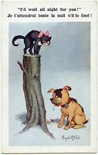ILLUSTRATEUR DONALD MC. GILL. CHIEN ET CHAT. DOG AND CAT