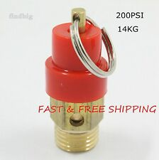 "Air Compressor Safety Relief Pressure Valve 1/4"" NPT 200 PSI 14KG Pop Off"